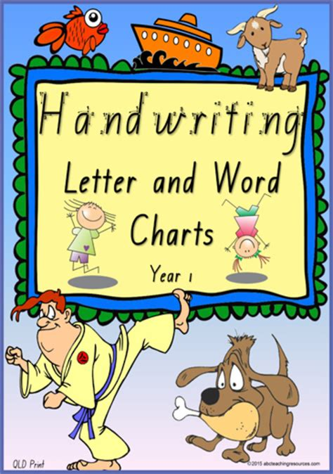 year  handwriting letter  word practice qld print