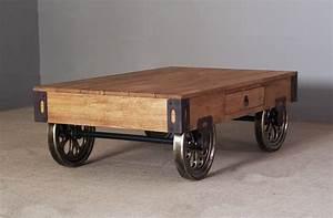 Table Basse Rustique : table basse salon bois rustique ~ Teatrodelosmanantiales.com Idées de Décoration