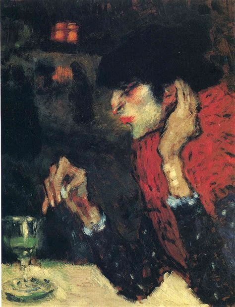 The Absinthe Drinker 1901 Pablo Picasso Wikiartorg