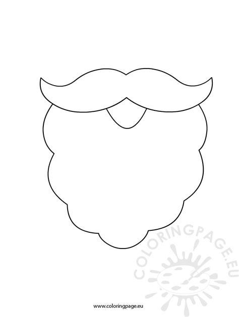goatee template santa beard drawing