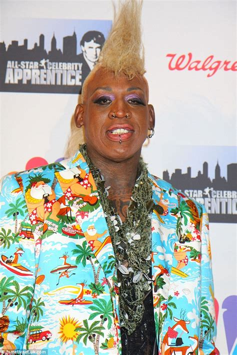dennis rodman  bold fashion statement  huge blonde