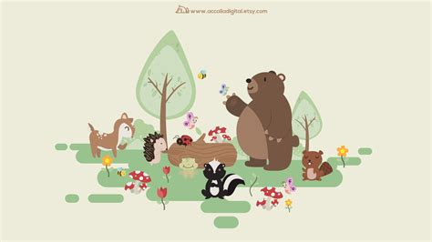 Woodland Animal Wallpaper Uk - 31 woodland animals wallpapers on wallpaperplay
