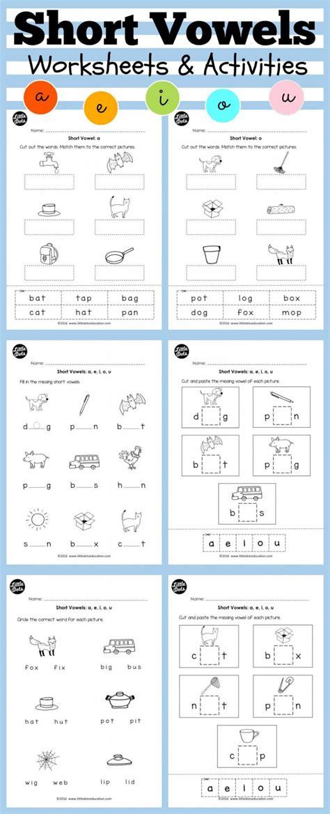 vowels worksheets for kindergarten vowel u sounds