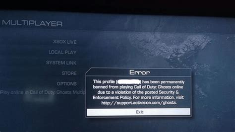 call  duty ghosts ban wave reportedly hits ps ps