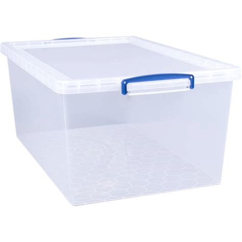 Really Useful Clear Plastic Storage Box 62 Litres  Hobbycraft
