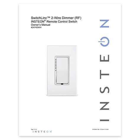 Dimmer Switch Wire Setup Insteon