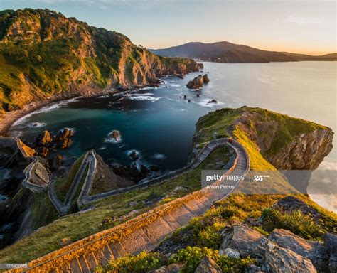 Path To San Juan De Gaztelugatxe Basque Country Spain High