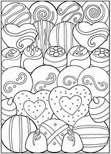 Coloring Dessert Pages Printable Desserts Books Adult Sheets Valentine Valentines Dover Designer Creative Candy Birthday Haven Publications Samples Colouring Food sketch template