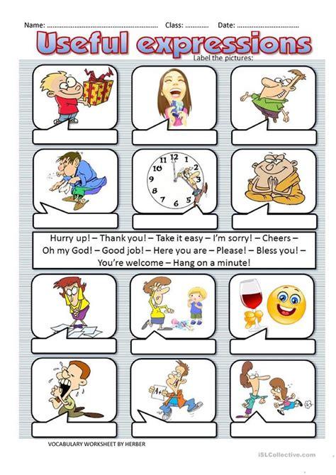 expressions worksheet  esl printable