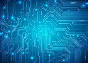Technological Vector Background With A Circuit Board