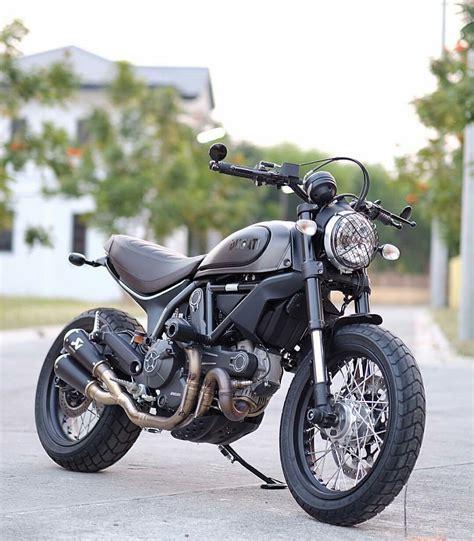Ducati Scrambler Icon Modification by Ducati Scrambler Mods Cafe Racer Custom Ride It