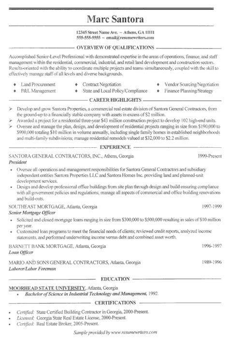construction experience resumes construction resume example general contractor sample resumes