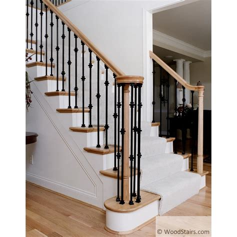 li alm flat shoe wood stair square iron baluster shoes