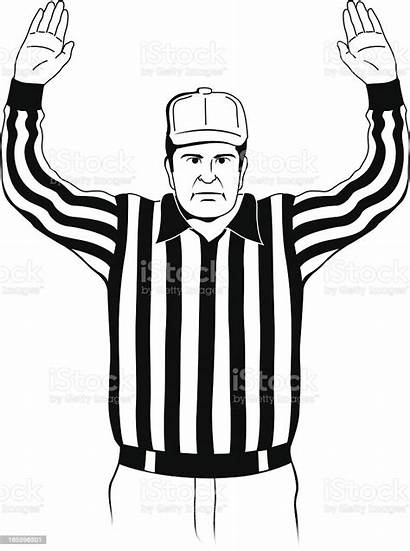 Referee Touchdown Signal Vector Football American Illustration