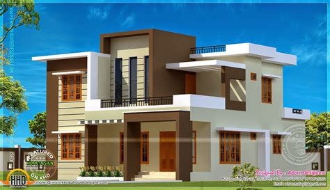 small contemporary house designs flat roof house designs kerala ultra modern plans small