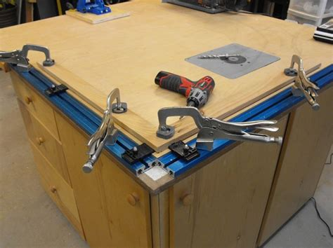 kreg tracks  workbench idee pinterest workbenches