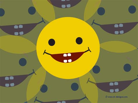 Laughing Animated Wallpaper - free wallpaper of a smiley laughing and showing teeth
