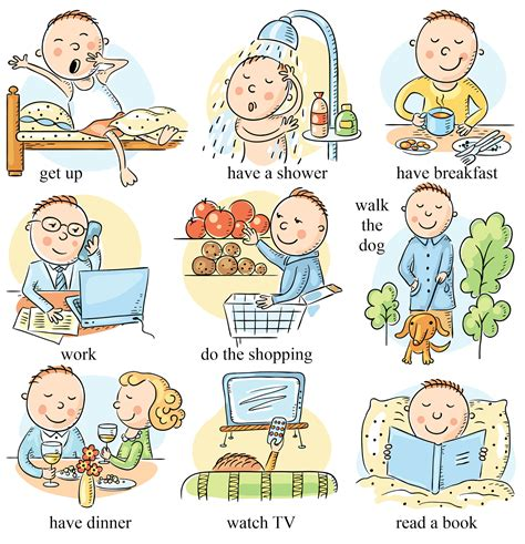 contoh simple present tense daily activities belajar