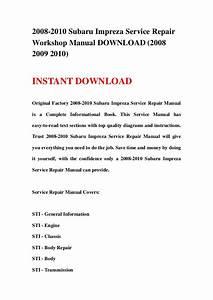 2002 Subaru Impreza Factory Service Repair Manual Instant