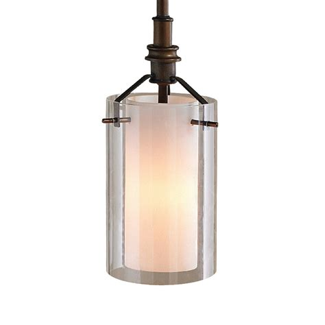 shop allen roth 5 12 in w rubbed bronze mini pendant