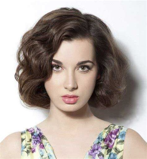 short hairstyles  thick wavy hair short