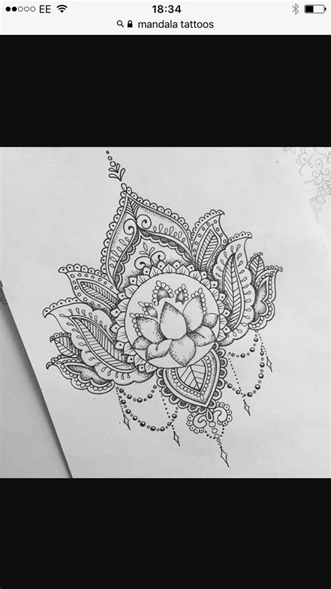 Gorgeous Lily Mandala design | Mandala and other tattoo designs | タトゥー, 蓮 タトゥー, マンダラ
