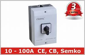 Manual Operated Generator Voltage 3 Pole Rotary Switch