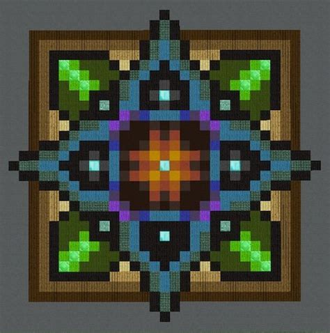 mandalas floors pixel art minecraft amino