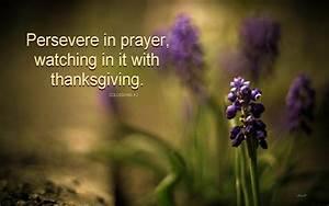 Persevere in prayer ~ gomakedisciples