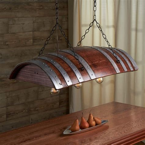 wine barrel light one third wine barrel hanging light id lights