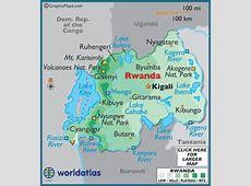 Geography of Rwanda, Landforms World Atlas