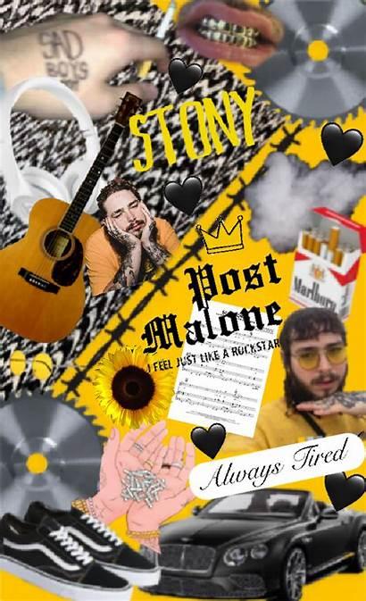 Malone Collage Quotes Iphone Lyrics Board
