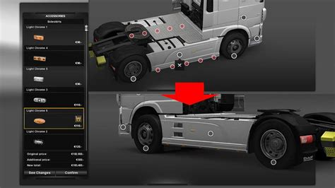 additional customization parts  ets euro truck