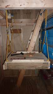an elevator for my 1039x1239 storage shed With barn hoist system