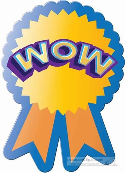 Award Clipart Sticker Wow Attendance Motivational Perfect