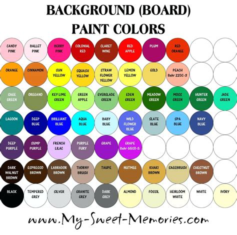 paint color names paint color names list archive ph com