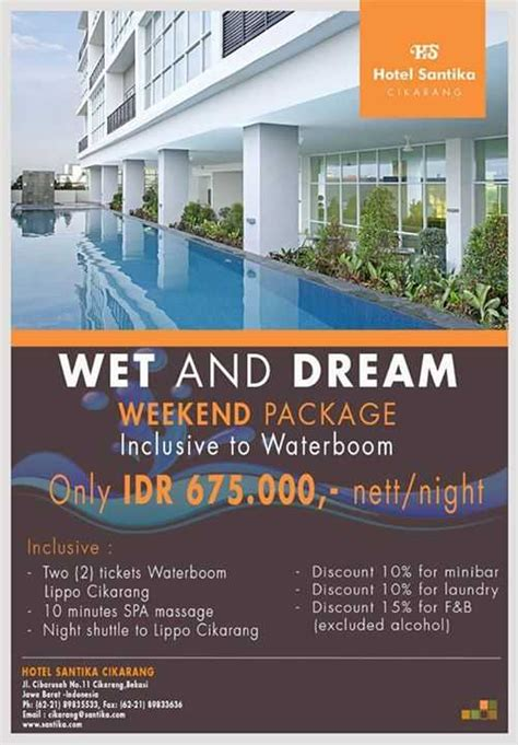 promo hotel santika cikarang weekend inclusive waterboom