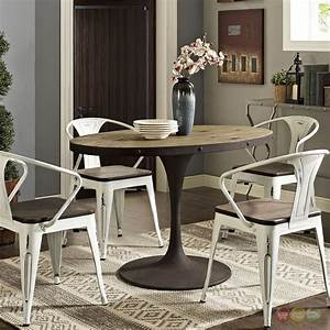 Drive, Rustic, 47, U0026quot, Oval, Wood, Top, Dining, Table, W, Iron, Pedestal, Base, Brown