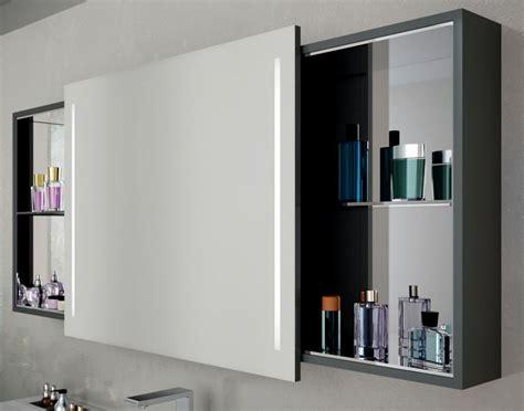 Vitra Memoria Illuminated Mirror Cabinet With Sliding Door