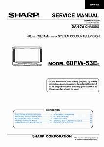 Schematic Diagram Sharp 60fw 53e Television
