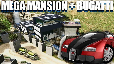 gta  mega mansion bugatti gta  youtube