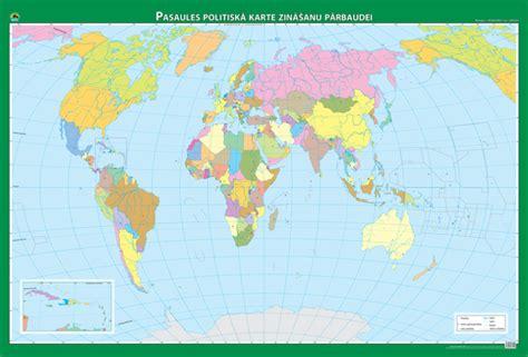 Maps - Wall maps - Pasaules politiskā un fizioģeogrāfiskā ...