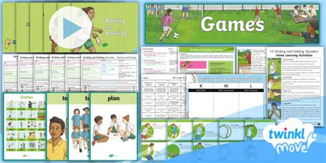 * New * Twinkl Move Pe  Y5 Striking And Fielding Rounders Unit