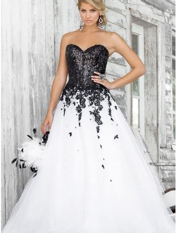 raining blossoms prom dresses black  white prom