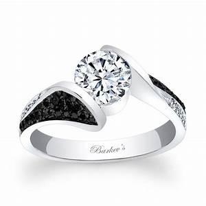 barkev39s black diamond engagement ring 7871lbk With black dimond wedding ring