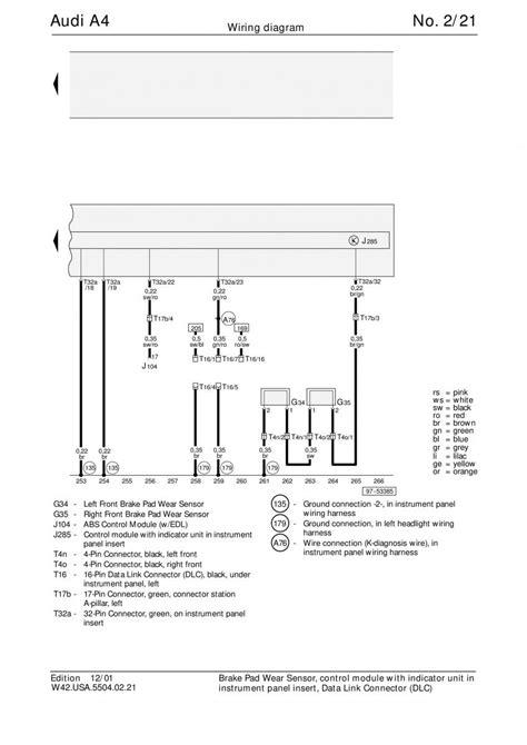 manual audi a4 b5 audi a4 b5 wiring diagrams schematy page 21 pdf
