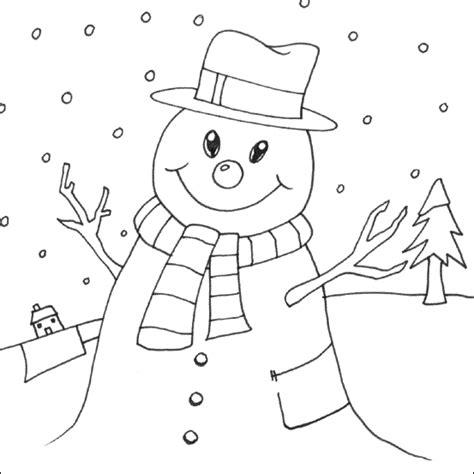 Sneeuwman Kleurplaat Simpel by Gratis Sneeuwman Kleurplaten Voor Kinderen 7