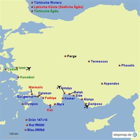 StepMap - Leere Türkei Karte - Landkarte für Türkei