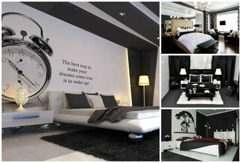 chambre a coucher en noir et blanc déco noir et blanc avec touches de couleur chambre à coucher