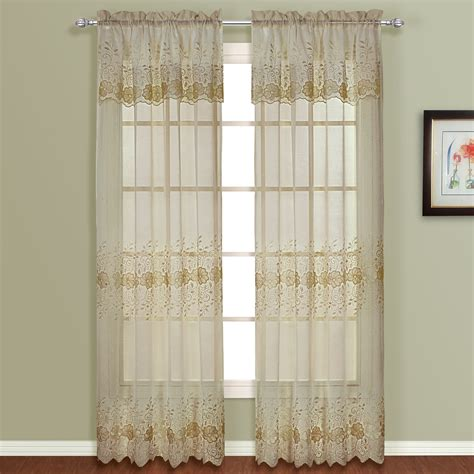 "United Curtain Company Marianna Soft And Shear 50"" X 84"